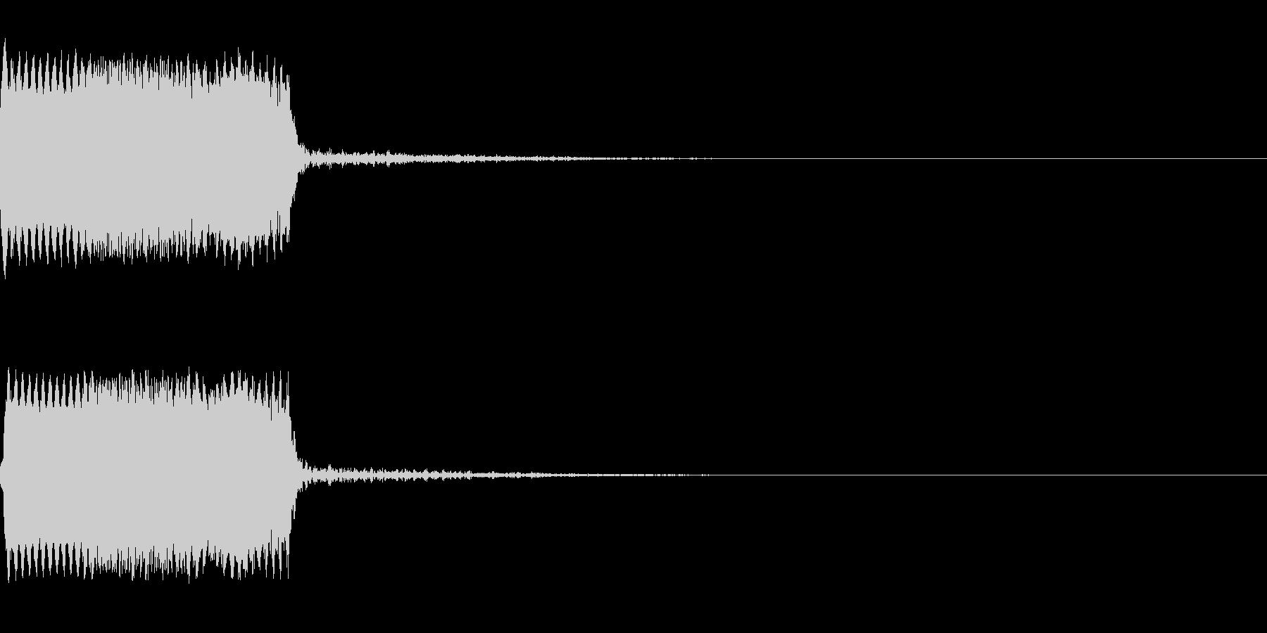 攻撃音08(ビーム)の未再生の波形
