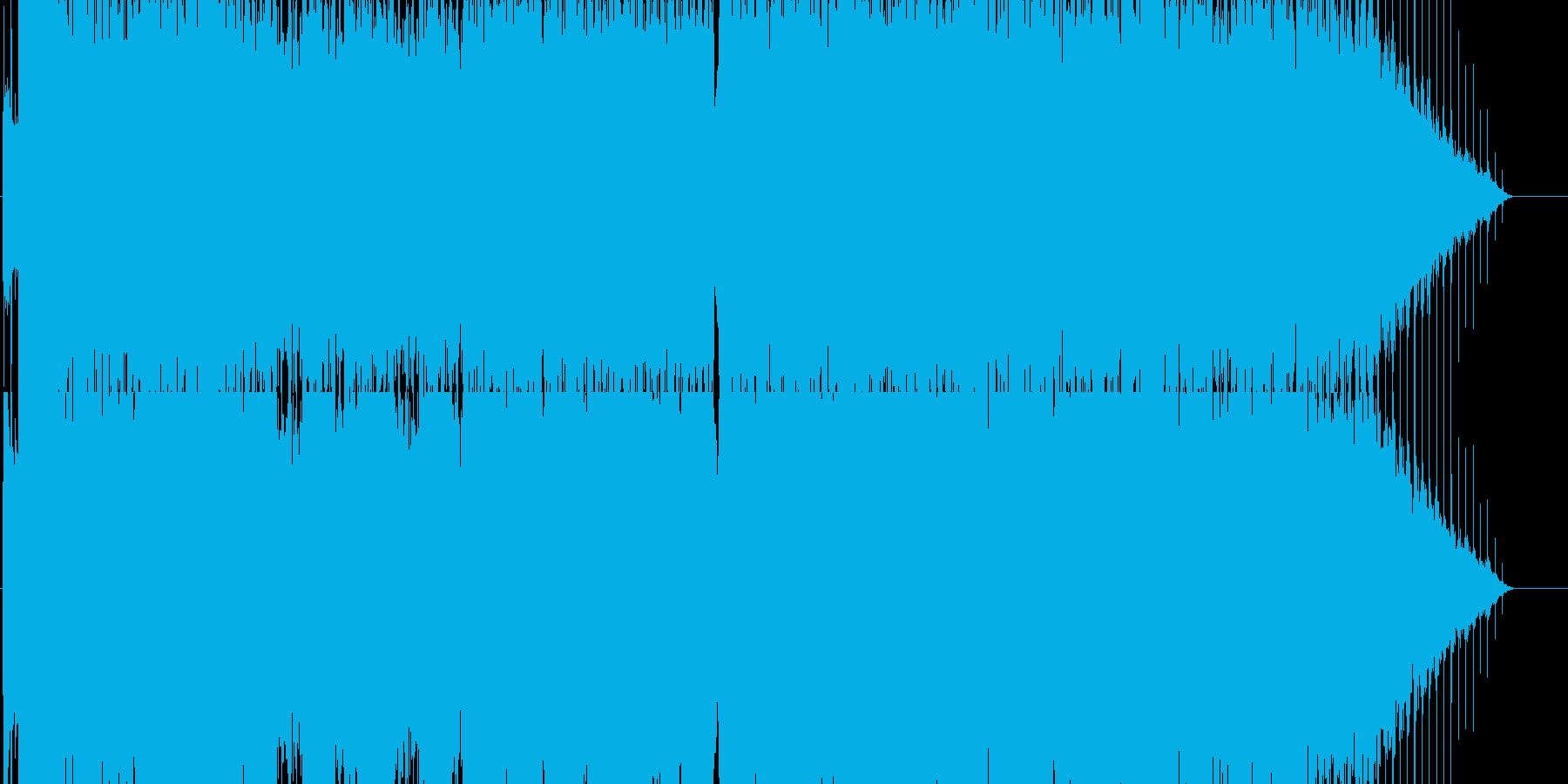 エレクトロハウス風のボーカルサウンドに…の再生済みの波形