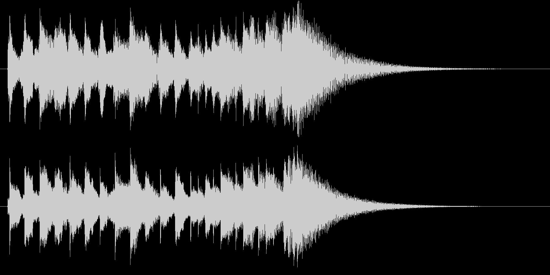 琴・尺八の純和風ロゴの未再生の波形