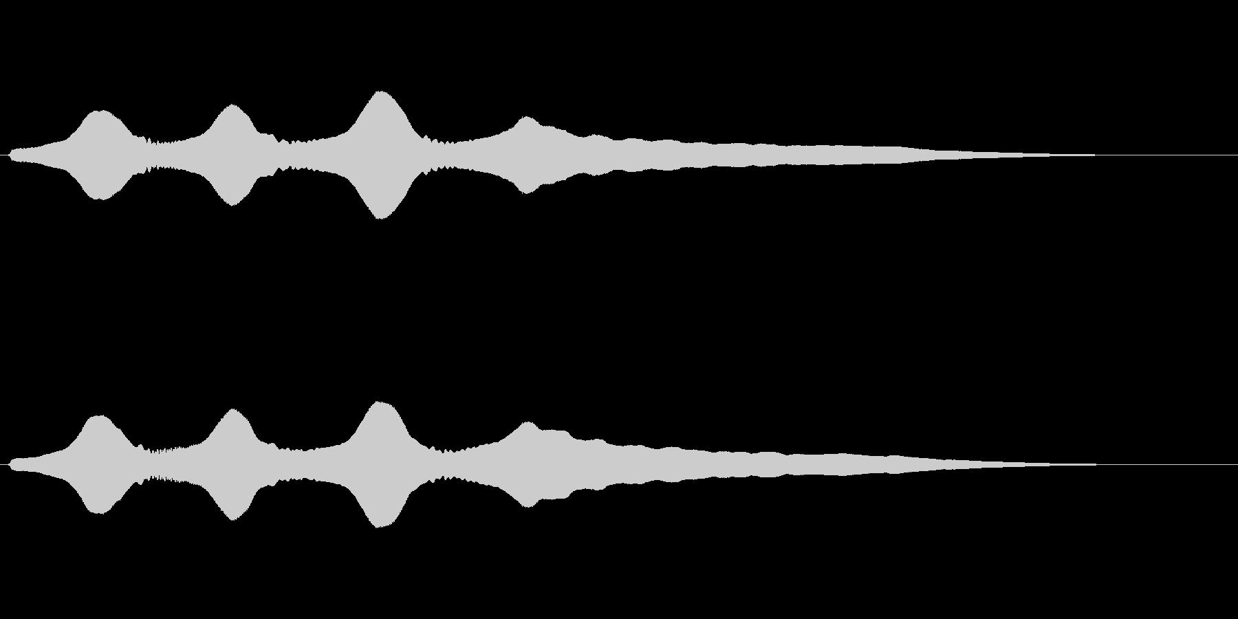 残念な効果音(トロンボーン)の未再生の波形