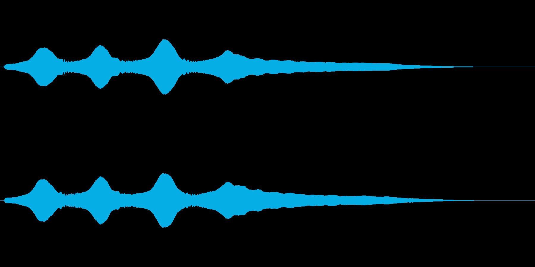 残念な効果音(トロンボーン)の再生済みの波形