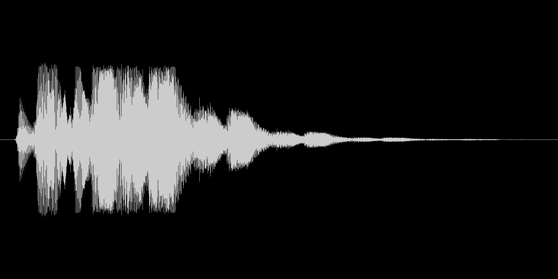 ファミコン風効果音決定音系です 06の未再生の波形