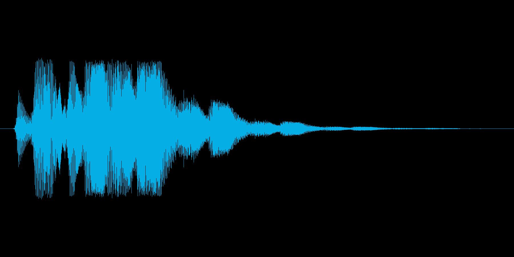ファミコン風効果音決定音系です 06の再生済みの波形