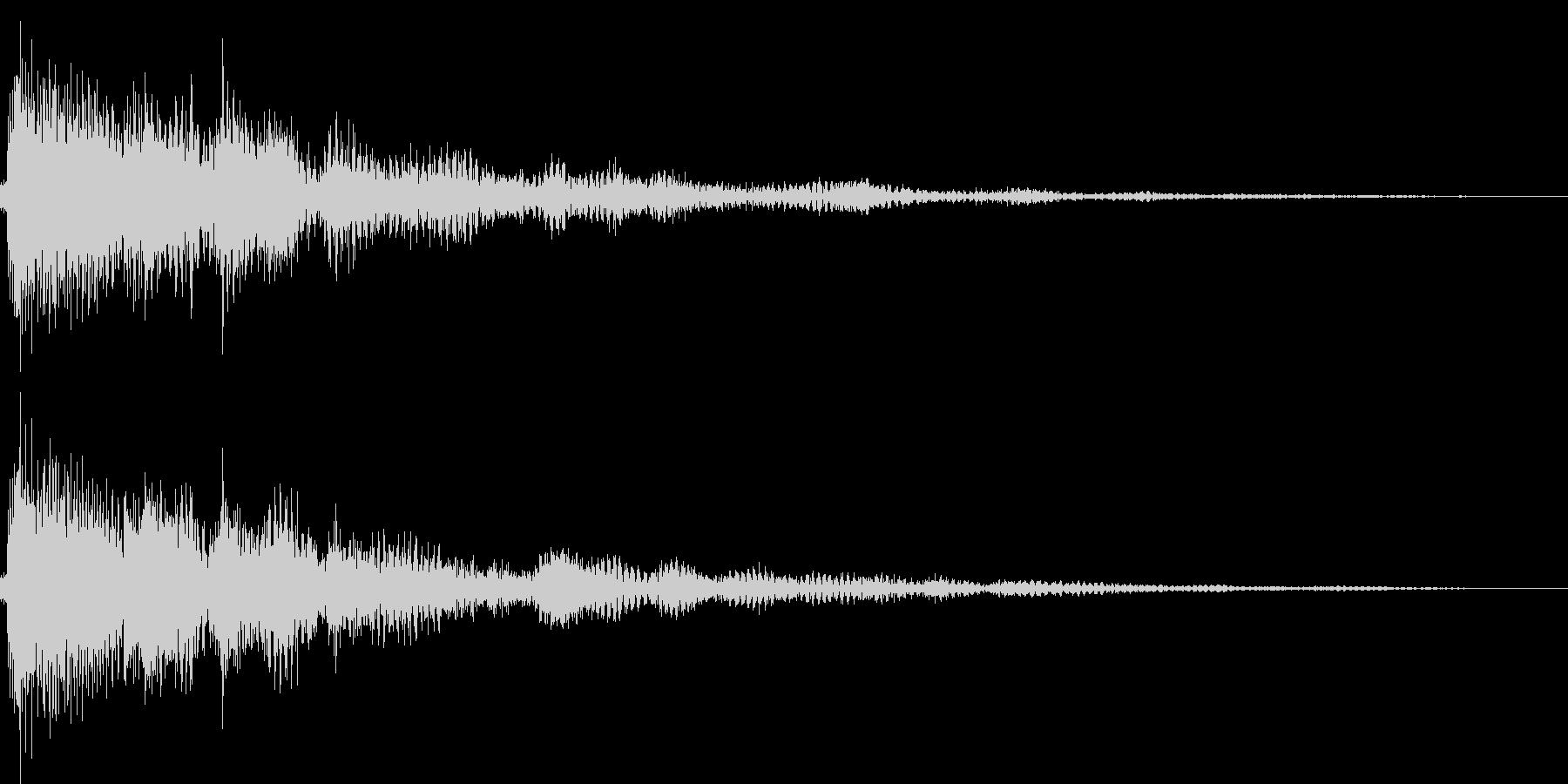ピロン(カーソル移動 表示 決定)の未再生の波形