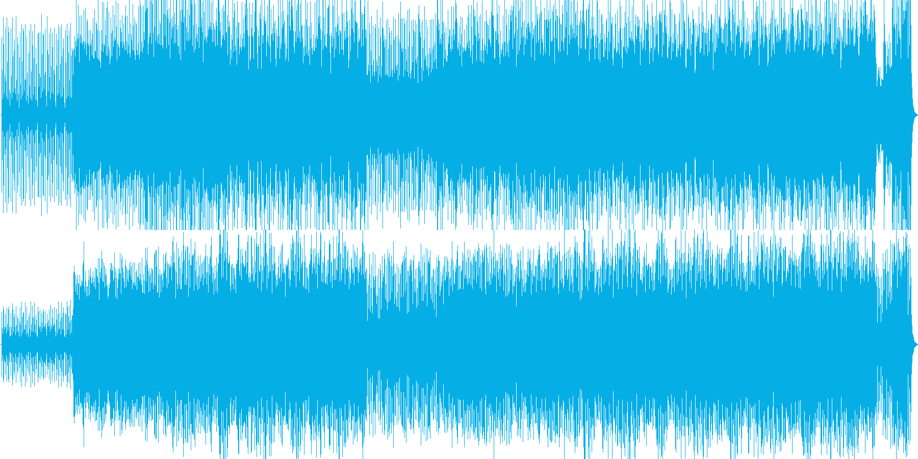 緊張感のあるオーケルトラ戦闘曲の再生済みの波形