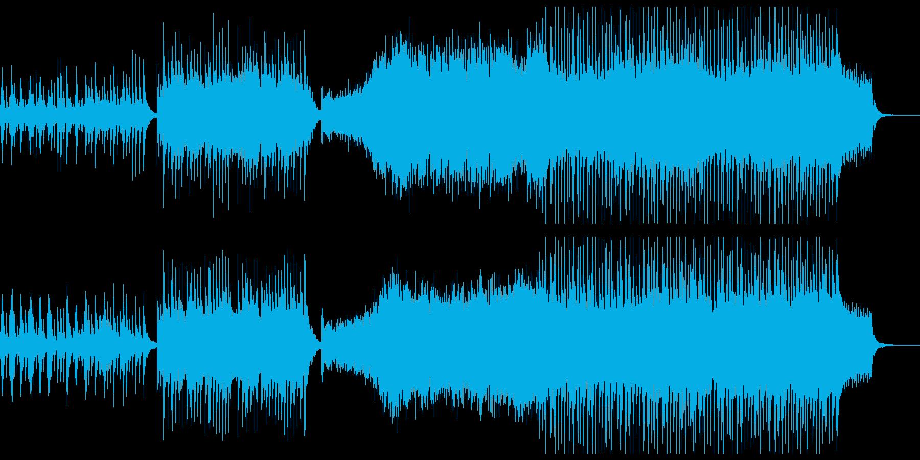 和楽器と現代的編曲が織りなす和風曲の再生済みの波形