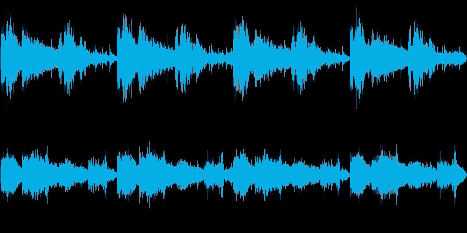 サンプリングボイスを用いたループテクノの再生済みの波形
