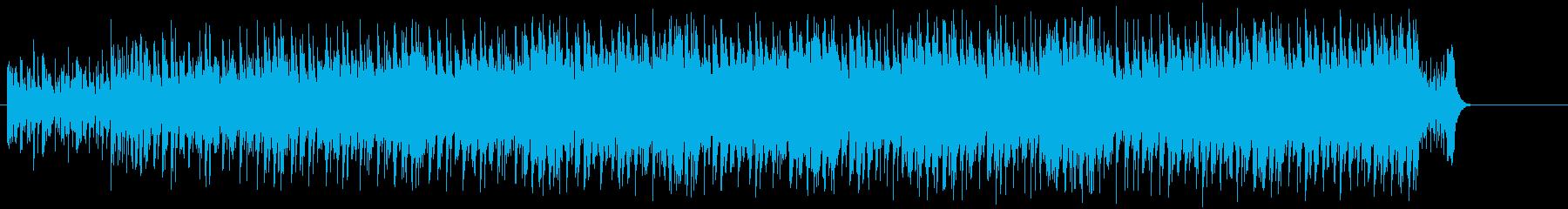 ダンサブルビートのエレクトロポップの再生済みの波形