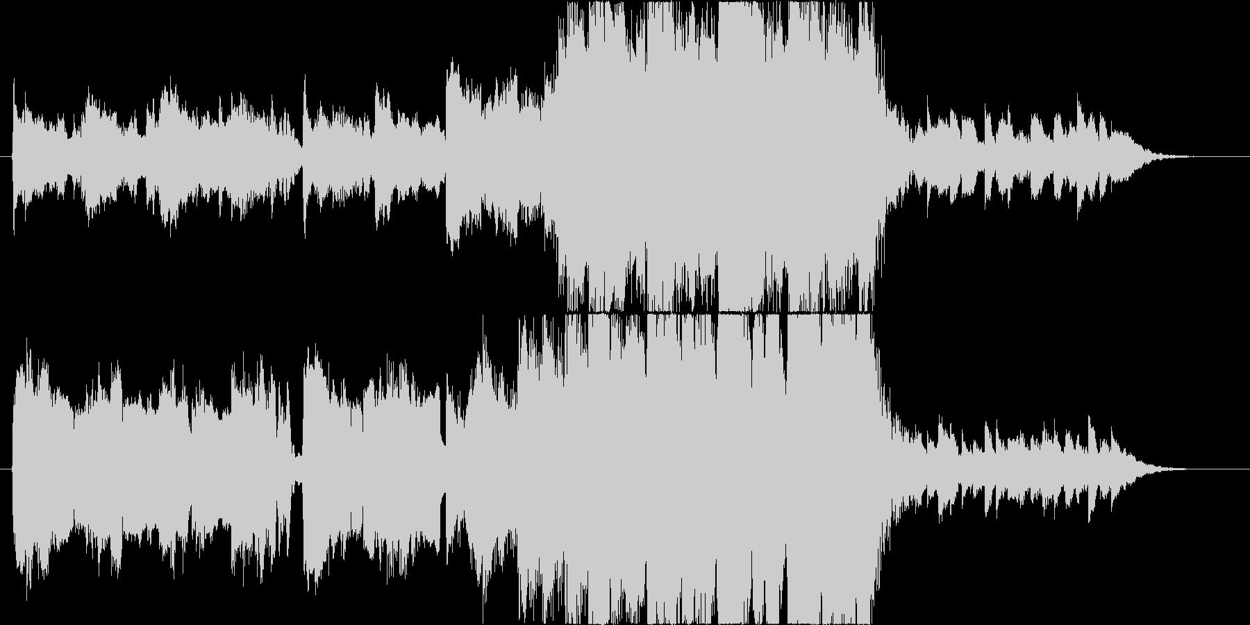 ハロウィンイメージの切なめな雰囲気の曲の未再生の波形
