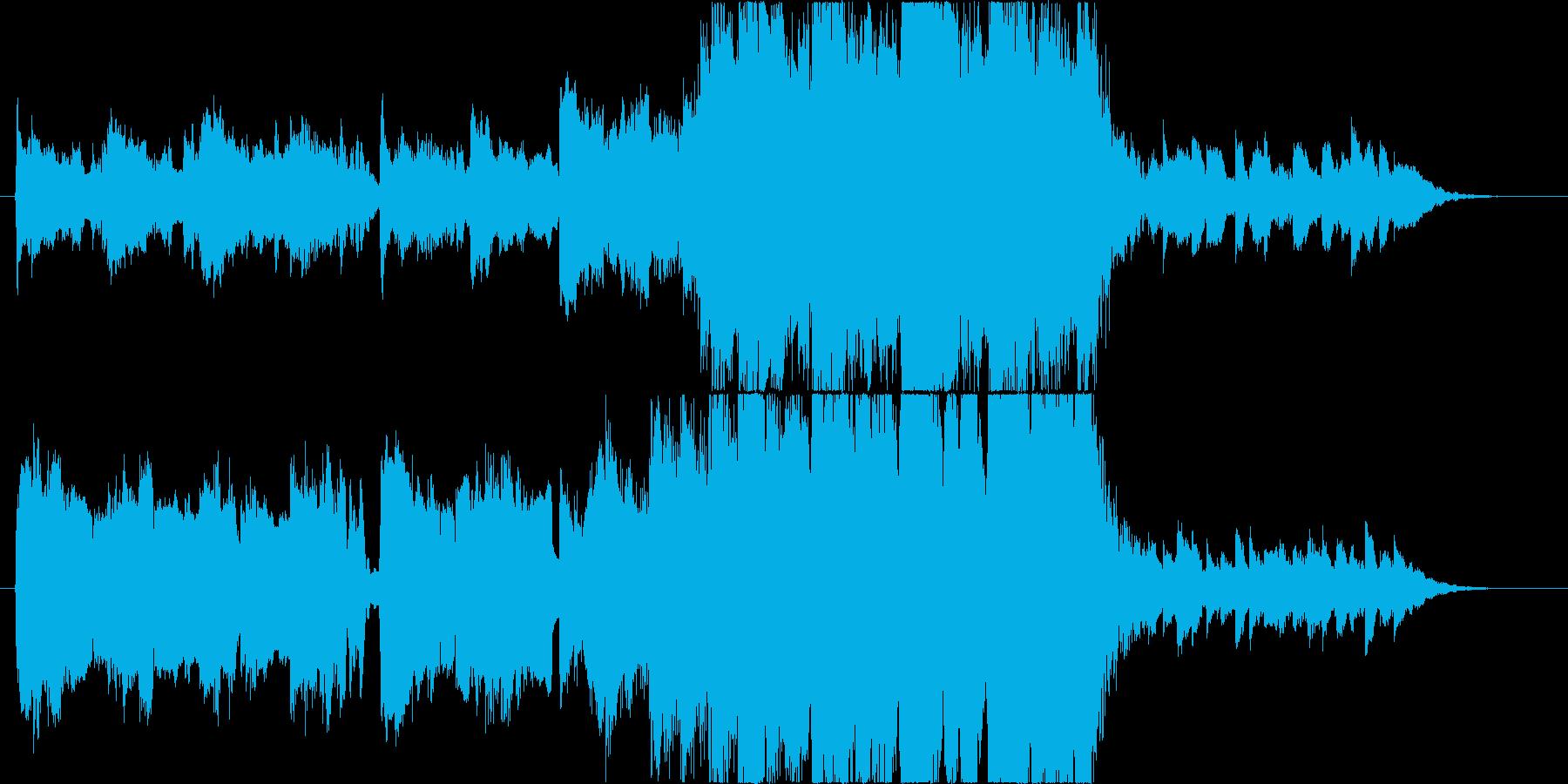 ハロウィンイメージの切なめな雰囲気の曲の再生済みの波形
