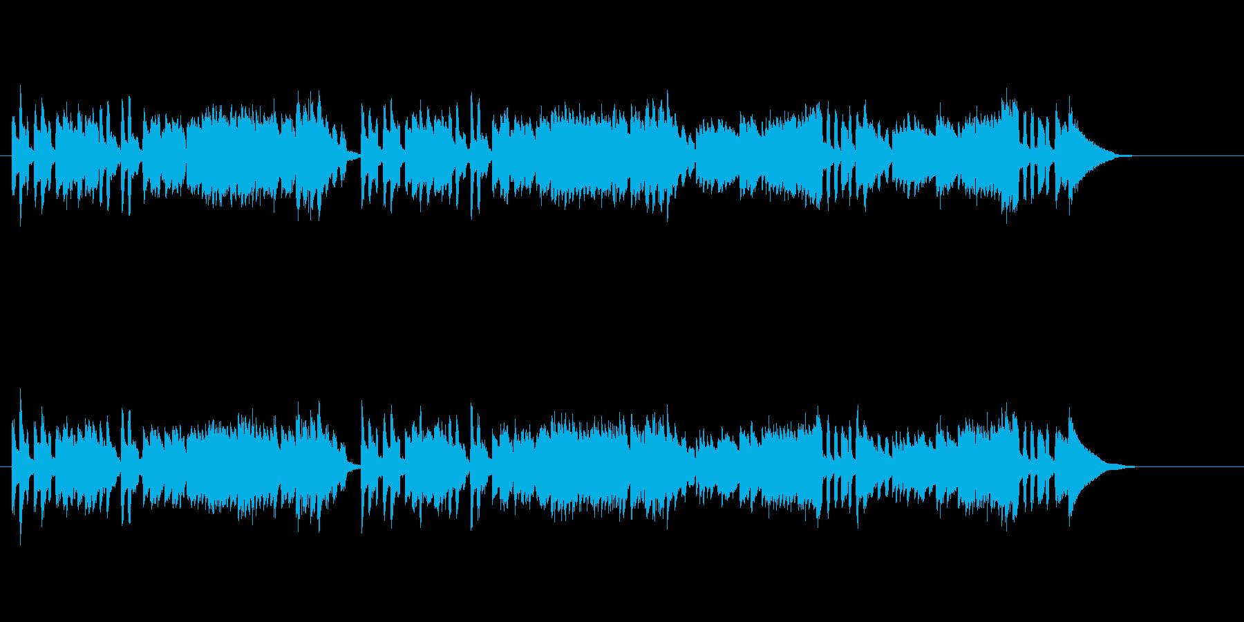バロック音楽風ほのぼのチェンバロの再生済みの波形