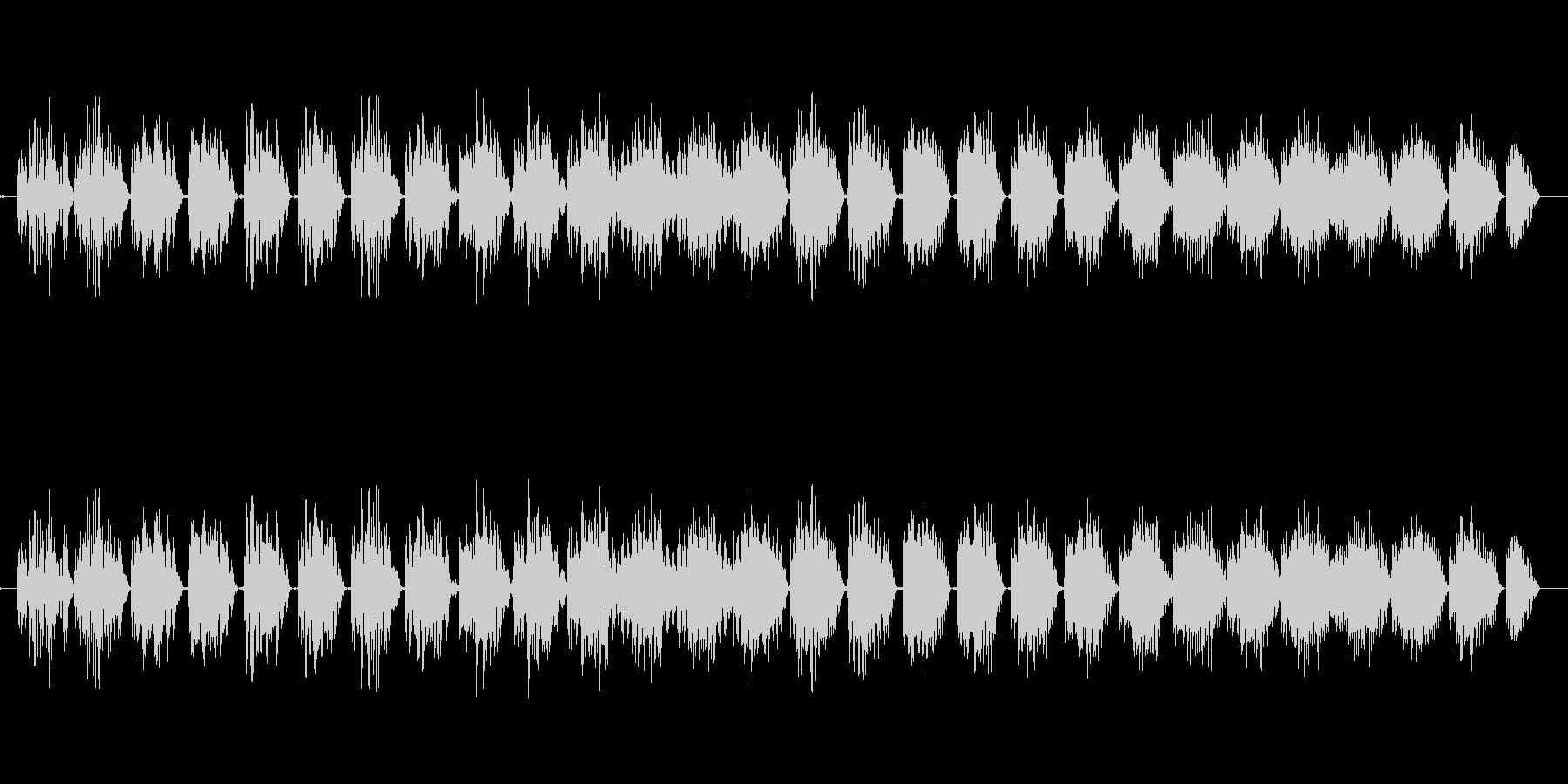 ステータスアップ(プラスのイメージ)の未再生の波形