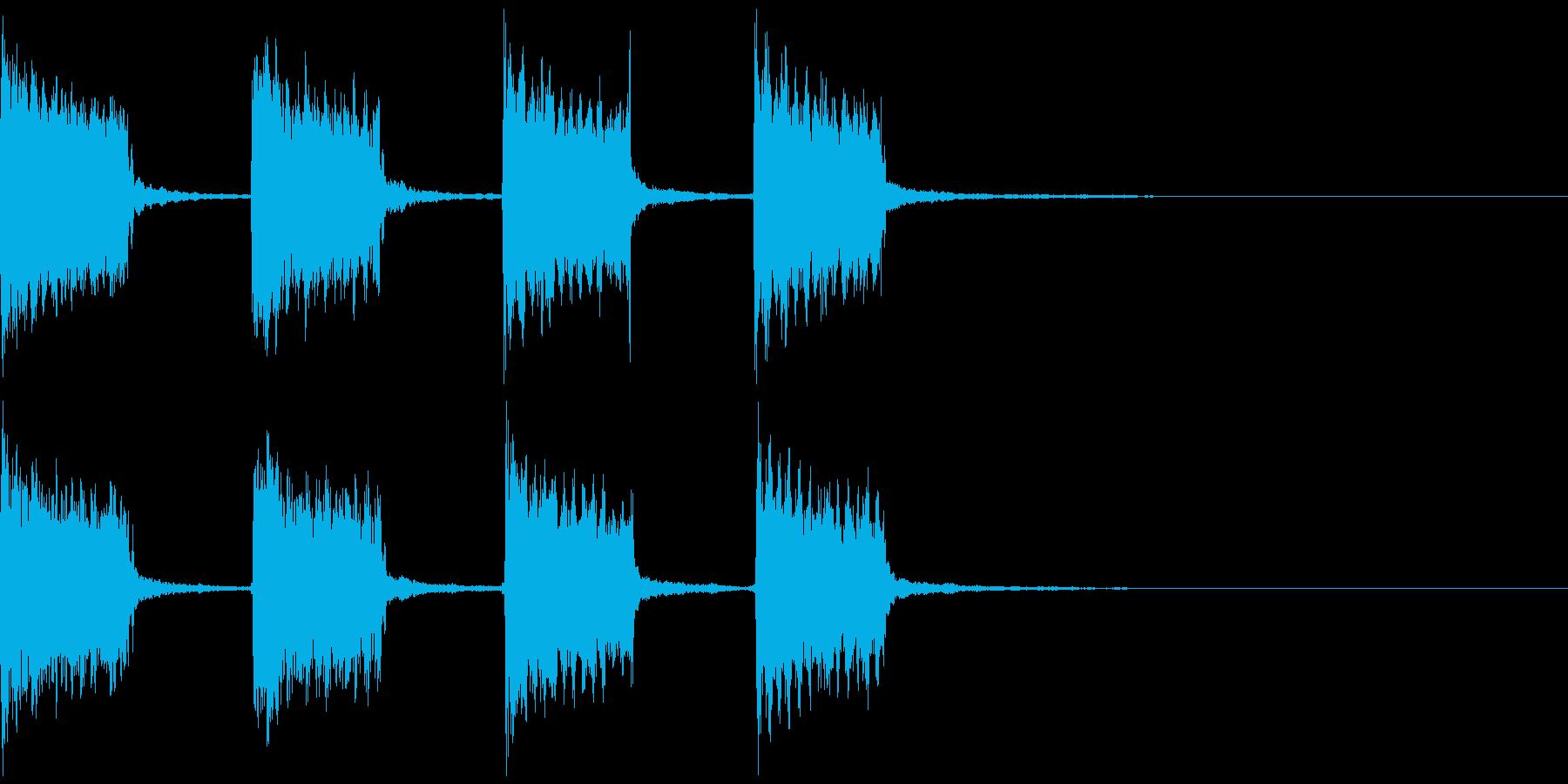 警報音01の再生済みの波形