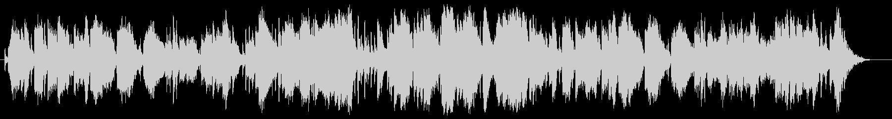 ソプラノサックスによるバッハ風BGMの未再生の波形