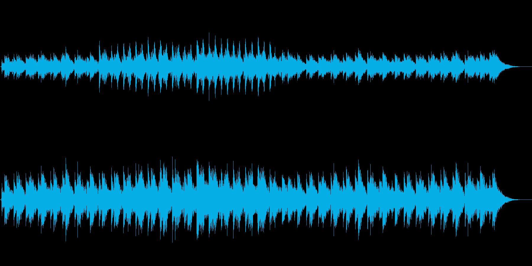 壮大な自然に合うBGMの再生済みの波形
