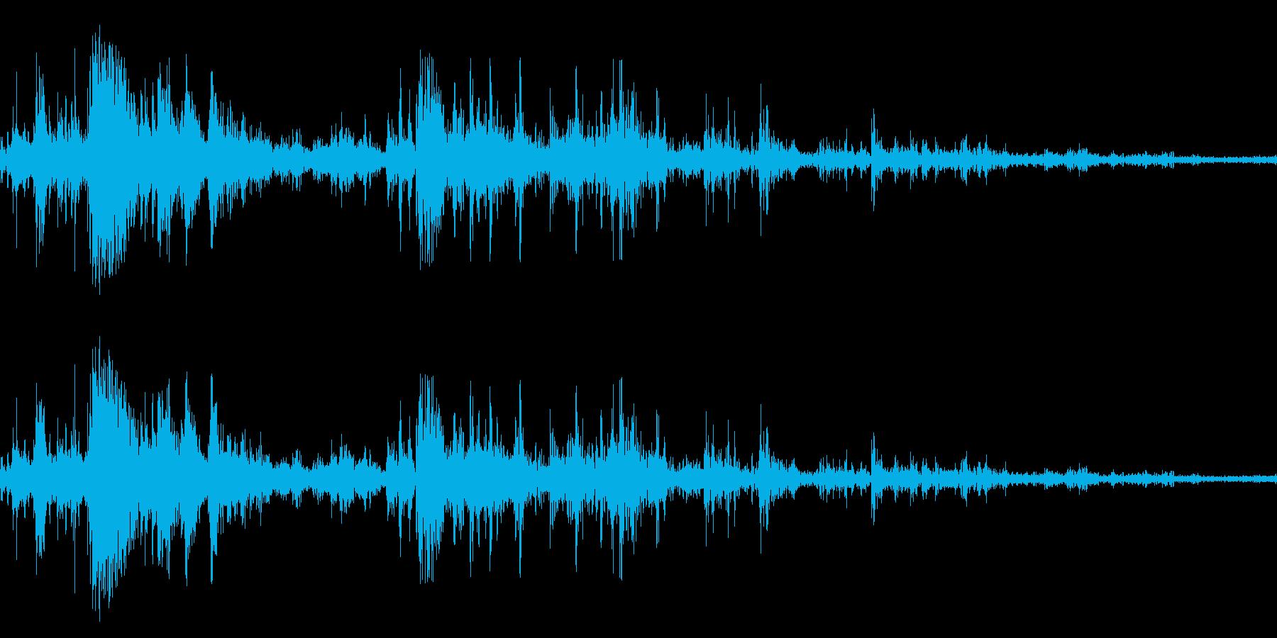 落雷(近距離テイク2)の再生済みの波形