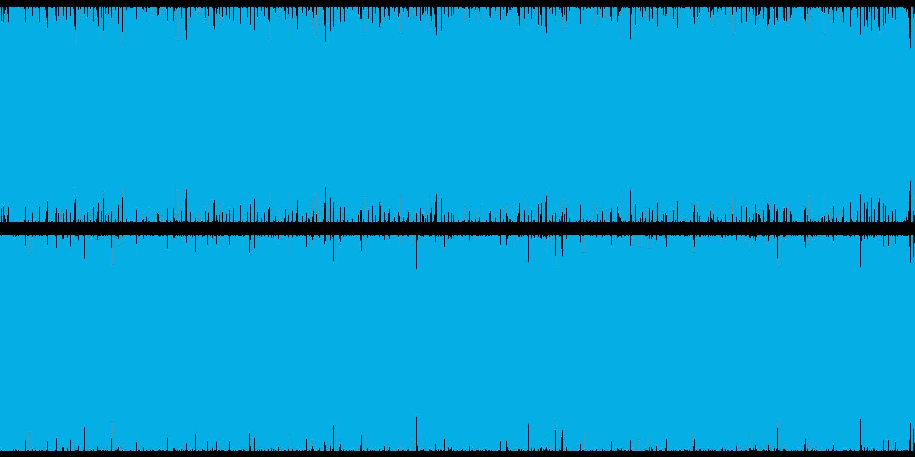 生演奏ギターロックの再生済みの波形