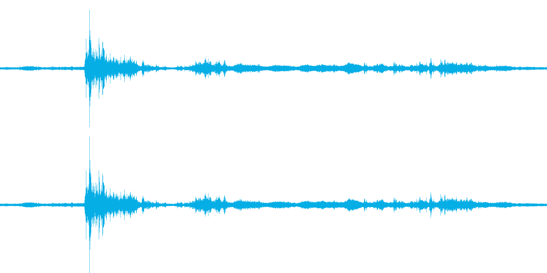 【生音】雷雨10 - 雨と雷と通行音 …の再生済みの波形