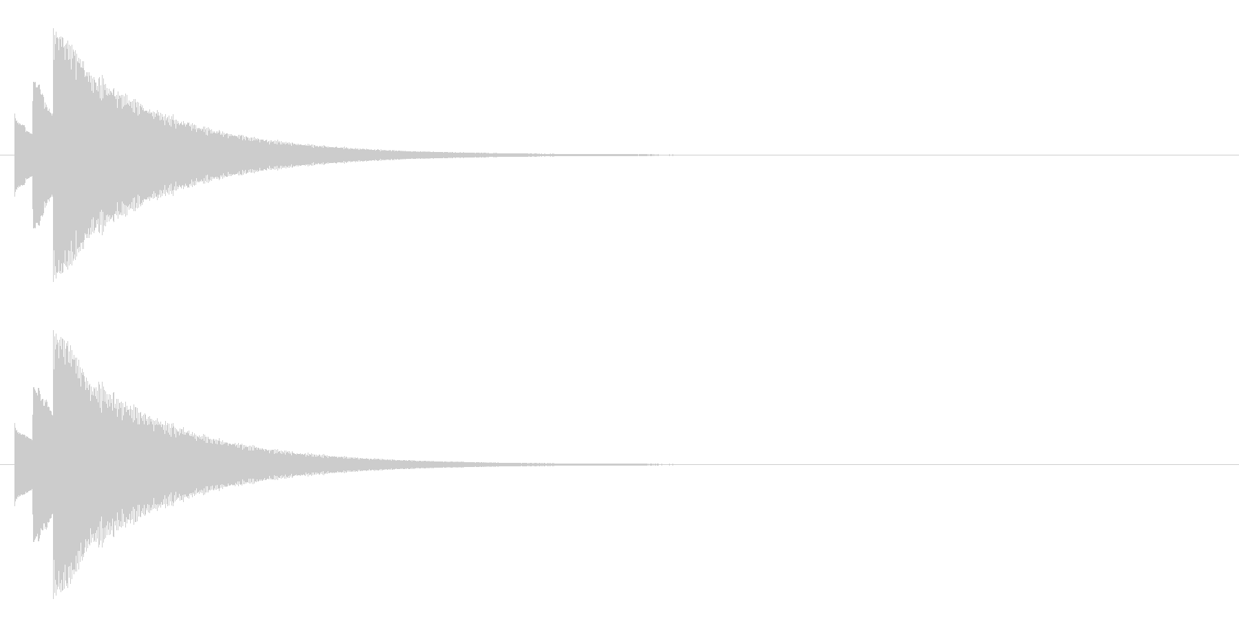 ティロリーンの未再生の波形