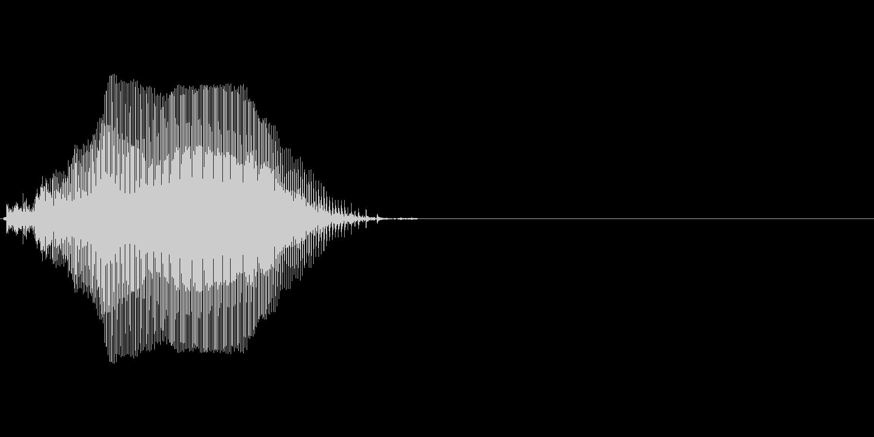 Kの未再生の波形