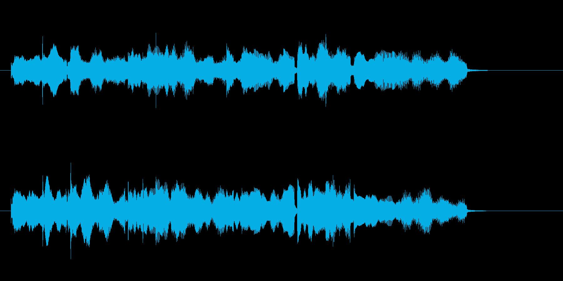 きらびやかなエレピソロによるジングルの再生済みの波形