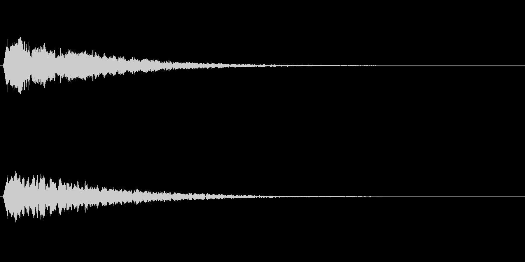 流れ星の音 ピュルルルの未再生の波形