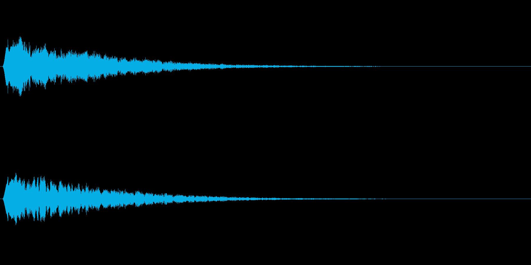 流れ星の音 ピュルルルの再生済みの波形