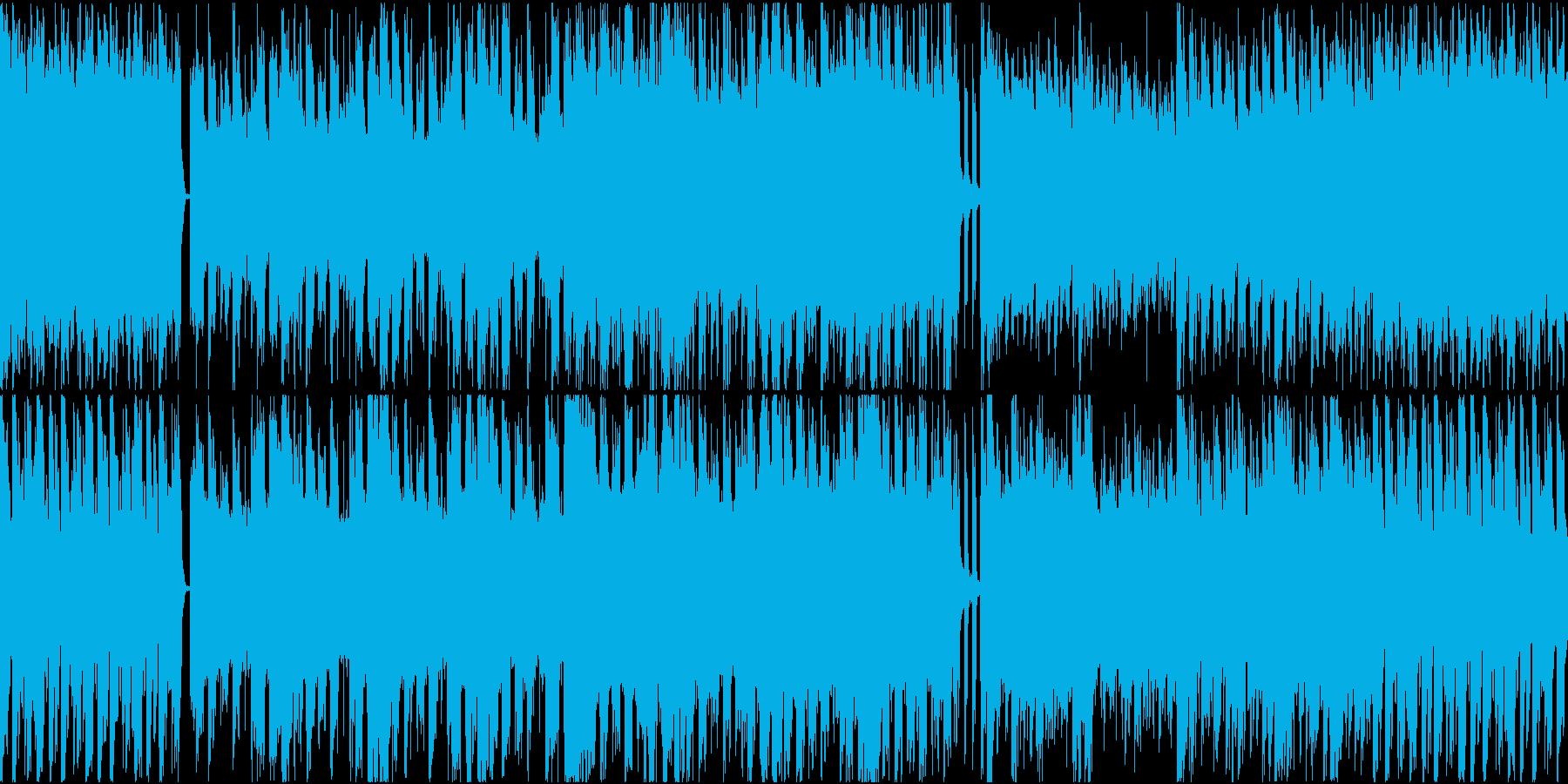EDM要素を含む戦闘BGMの再生済みの波形