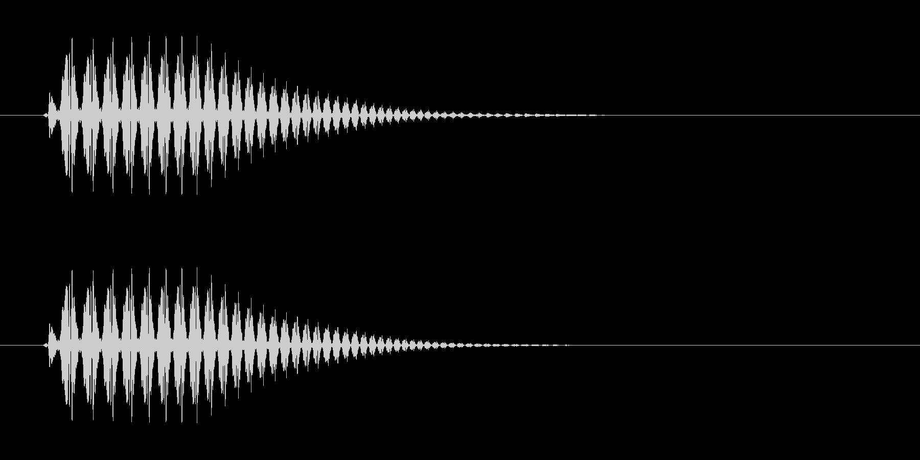 短く豚が鳴いているような音の未再生の波形