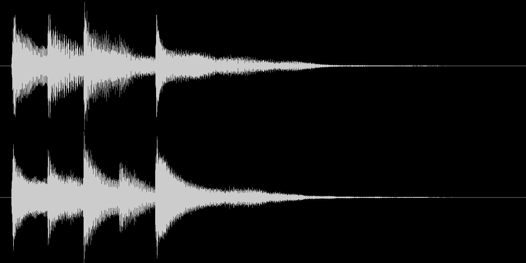 ピアノ転回音10の未再生の波形