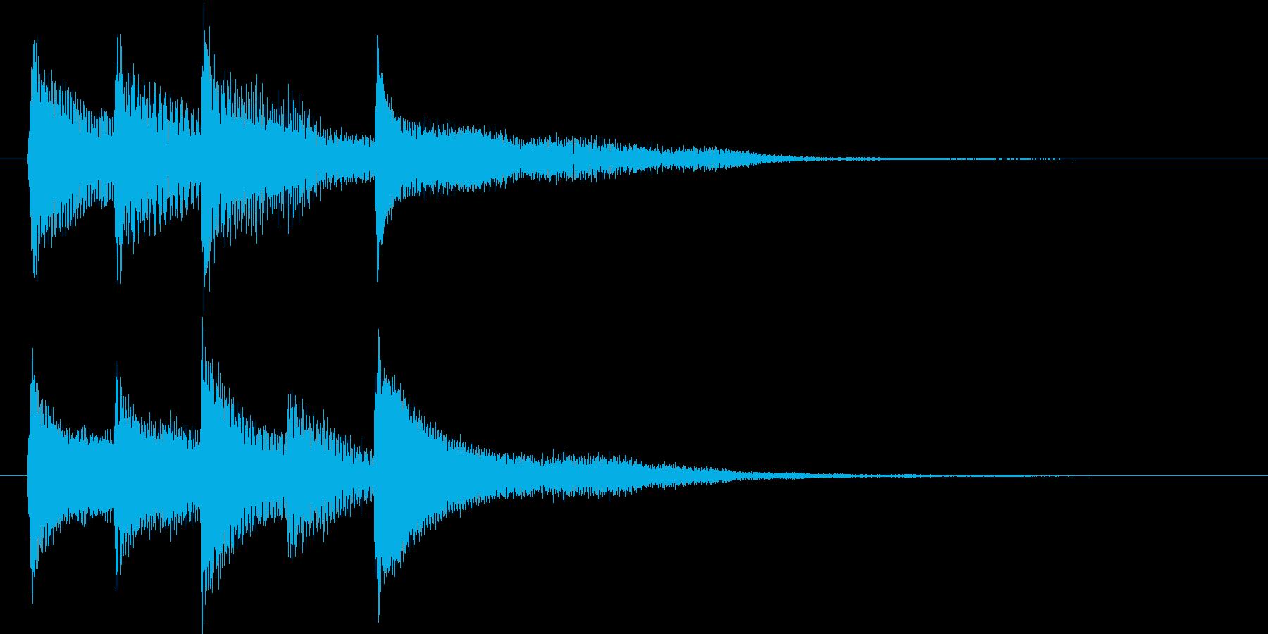 ピアノ転回音10の再生済みの波形