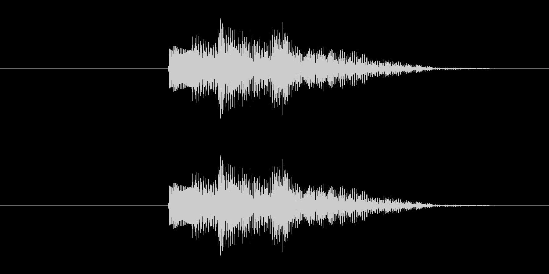 不安な音の響きのシステム効果音です。の未再生の波形
