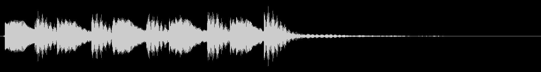 テレテレテレッって感じの正解音です。の未再生の波形
