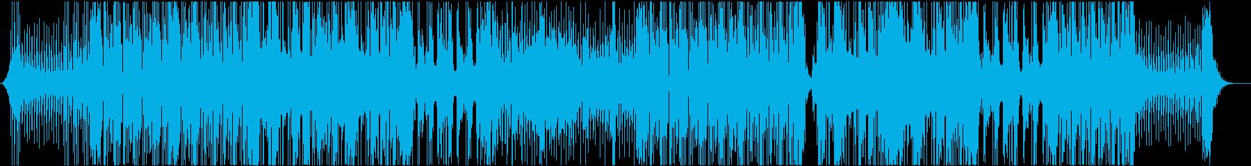 ノリがよく楽しい雰囲気のレゲエ、ダブの再生済みの波形