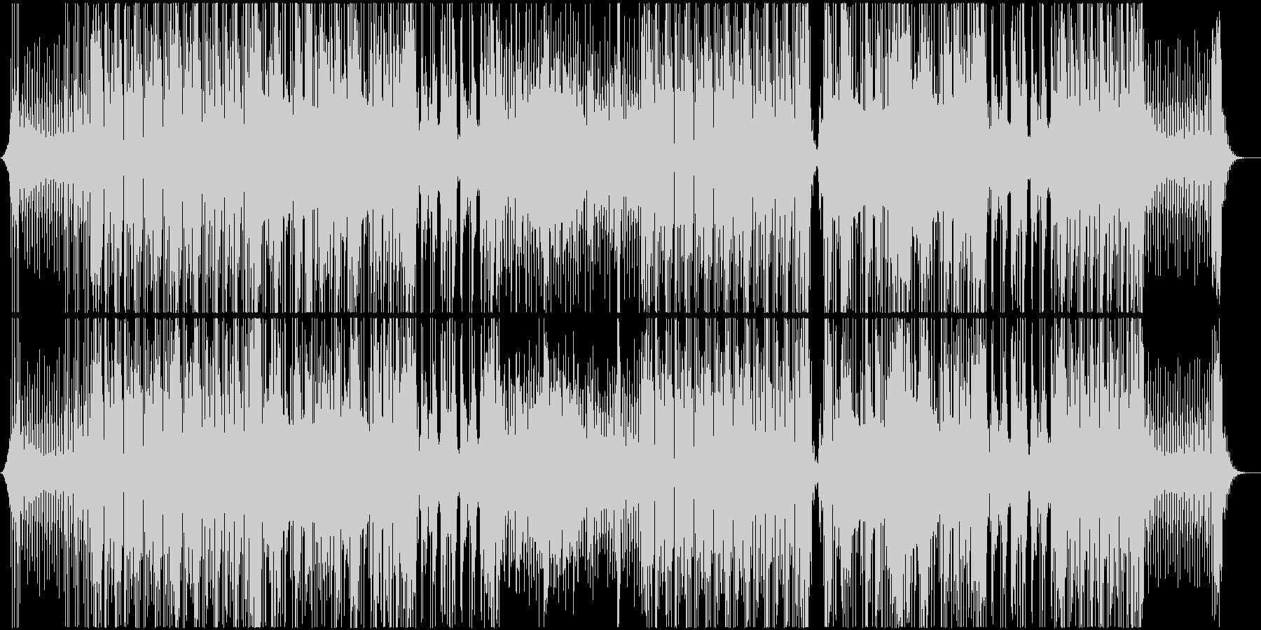 ノリがよく楽しい雰囲気のレゲエ、ダブの未再生の波形