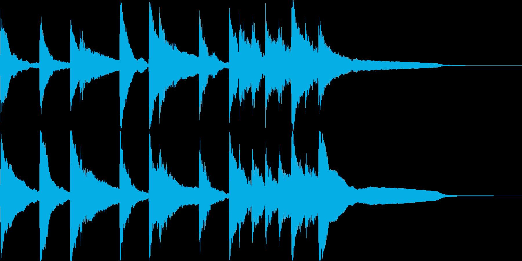 おもちゃピアノサウンドロゴ・ジングル#1の再生済みの波形