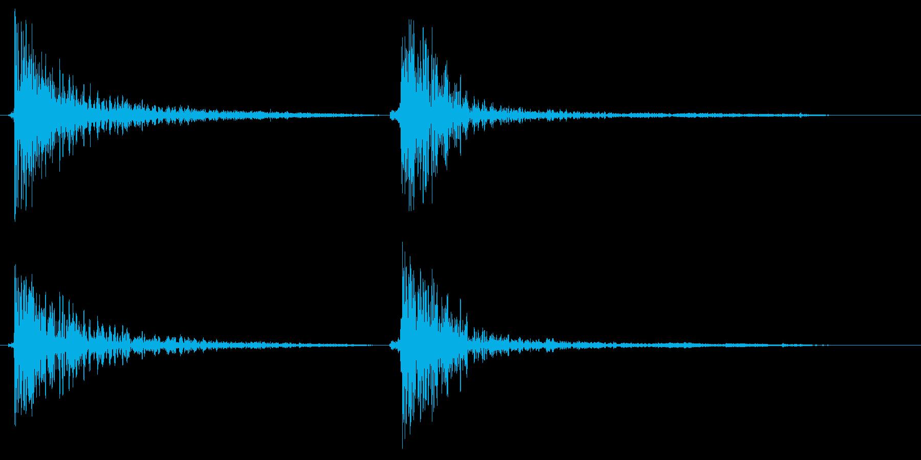 バンバンッ(物を叩く・打つ音)の再生済みの波形