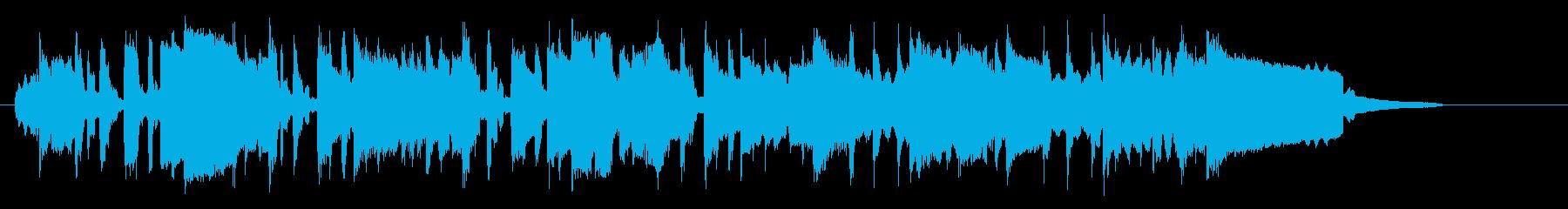 笛の音が明るく優しいマーチの再生済みの波形
