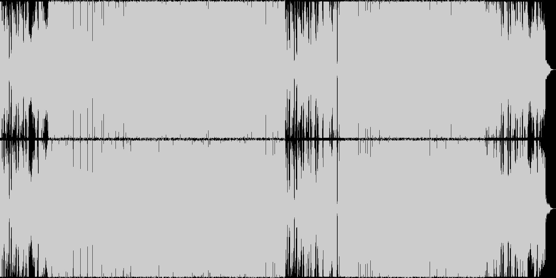 ミステリアスなドラムンベースの未再生の波形