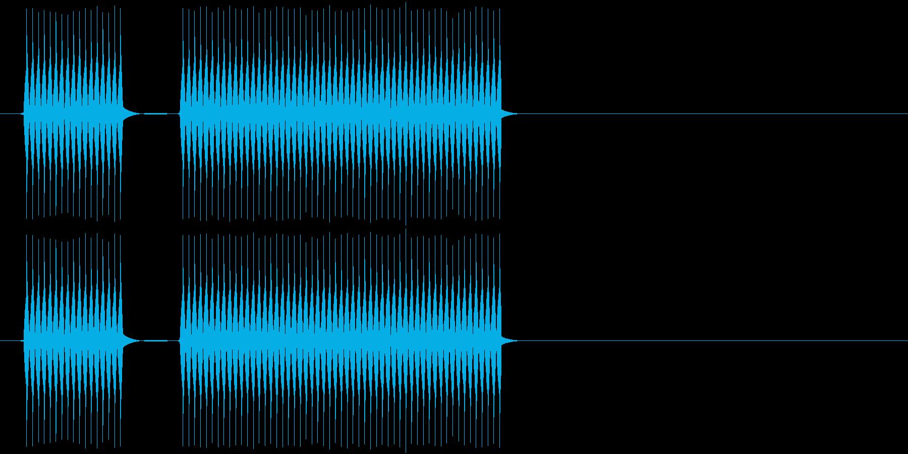 失敗したときや外れた時の音。高いヴァー…の再生済みの波形