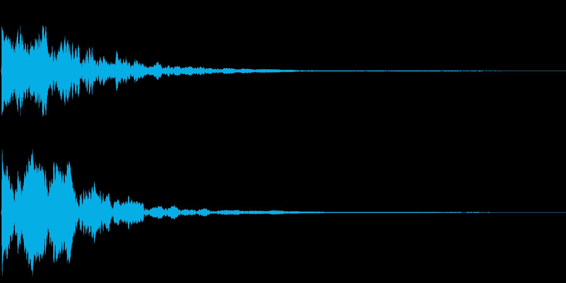 ゲームスタート、決定、ボタン音-098の再生済みの波形
