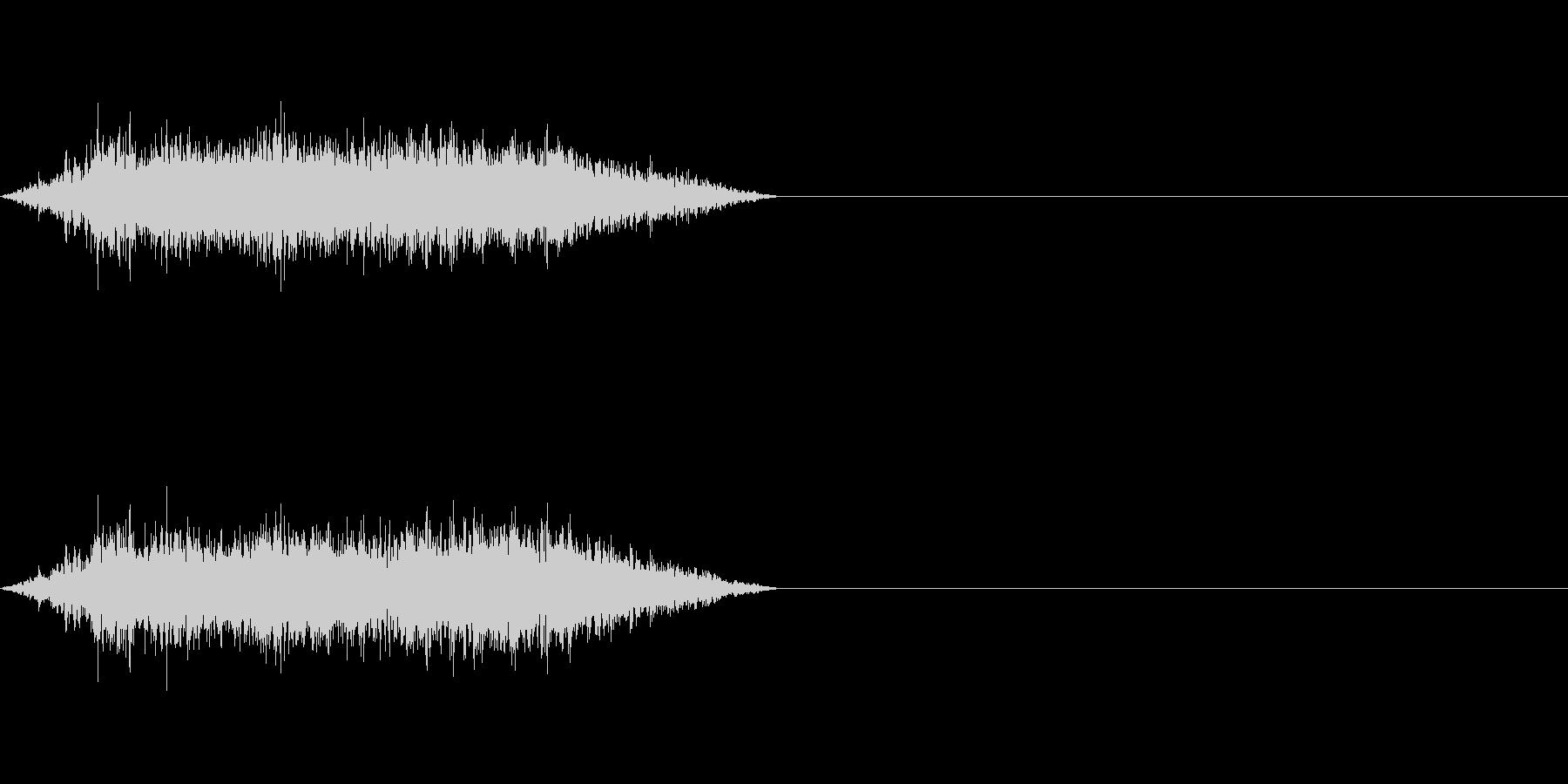 モンスターやゾンビなどの息の未再生の波形