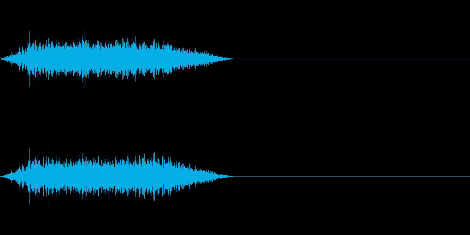 モンスターやゾンビなどの息の再生済みの波形