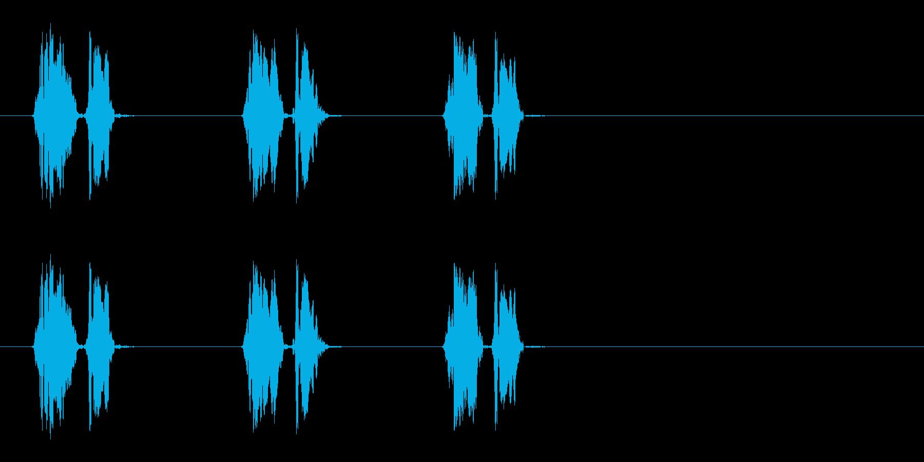 ウズラの鳴き声01-01の再生済みの波形