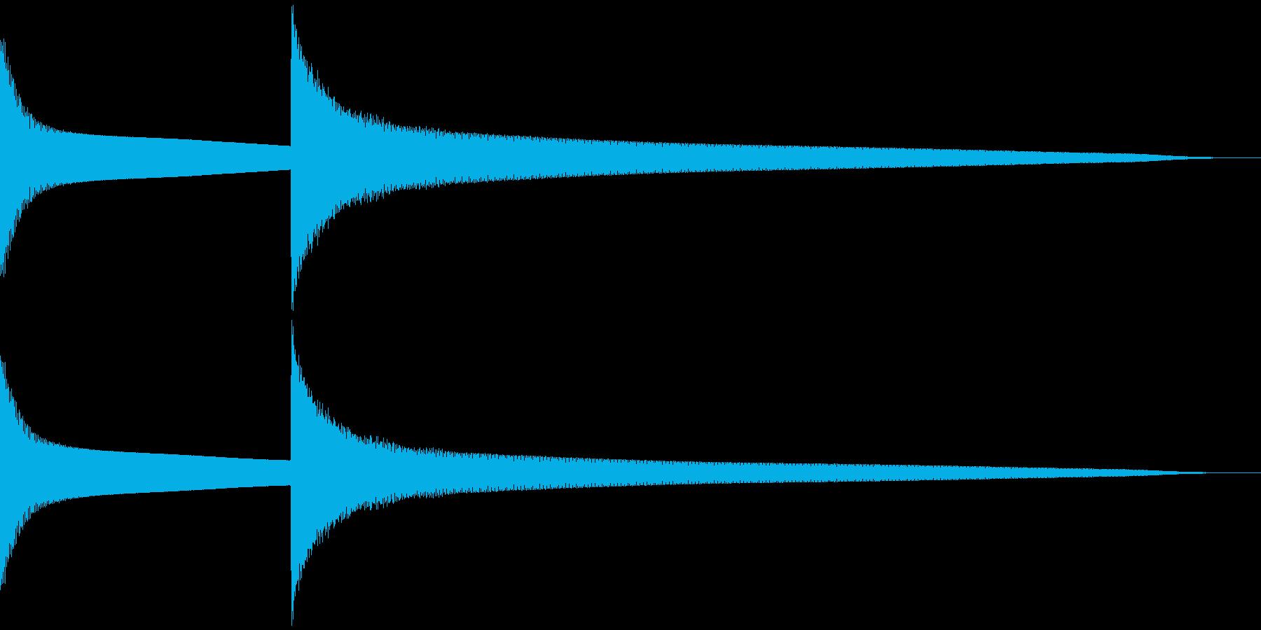 キンコーン 高め(注意喚起など) 鉄琴風の再生済みの波形