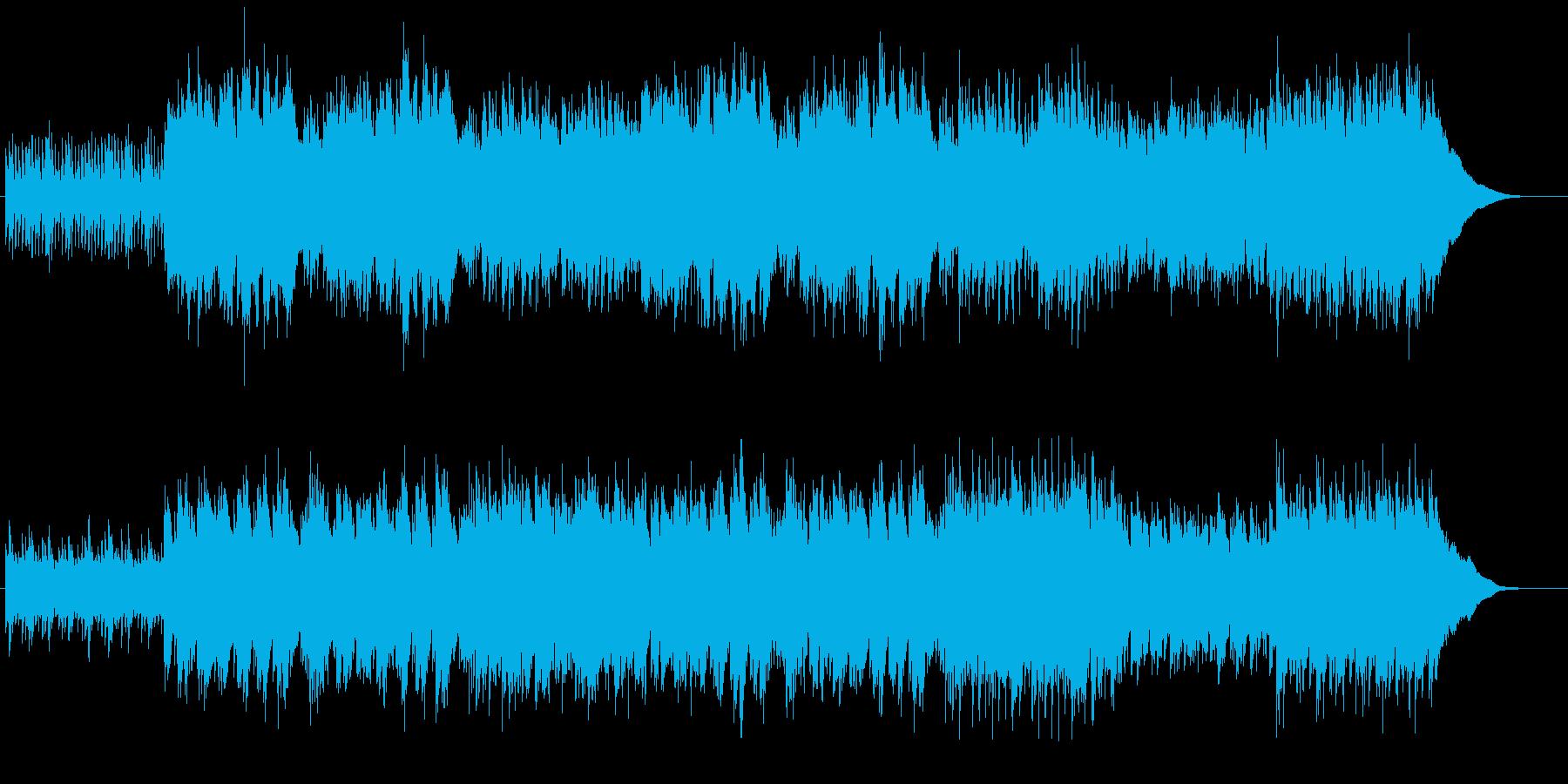緊張感のあるピアノ曲です。の再生済みの波形