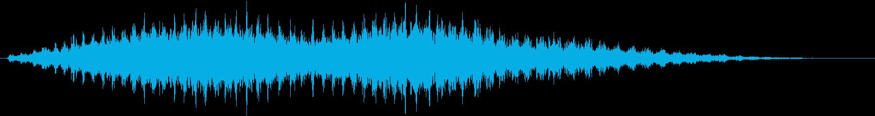 音侍SE「フルフル〜」重めな振り鈴の音の再生済みの波形