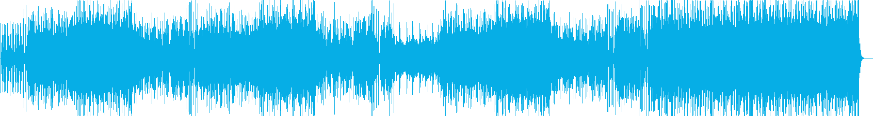 サンバ調シンセサイザーイージーリスニングの再生済みの波形