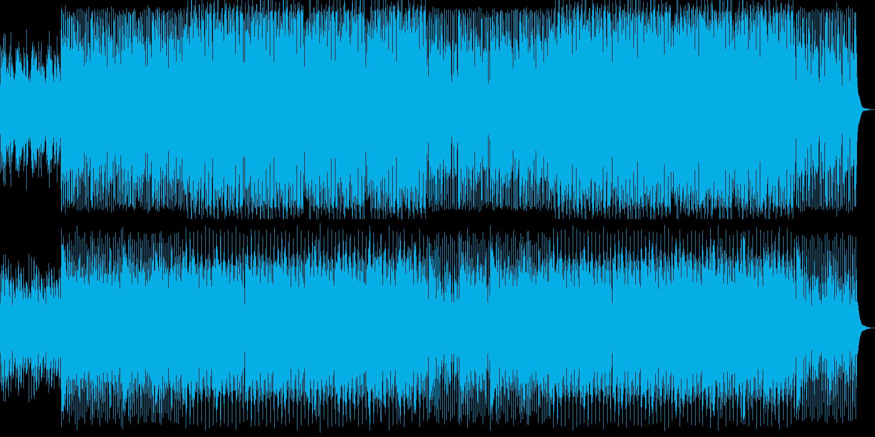 シリアスなシンセサイザーテクノ系EDMの再生済みの波形