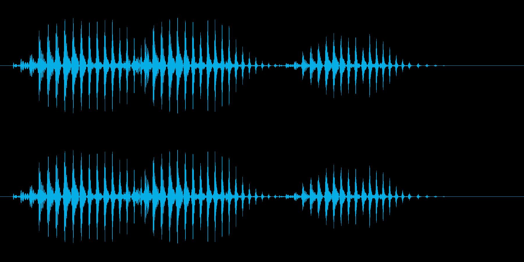 ブワワ(シンプルな単音の効果音)の再生済みの波形